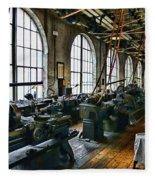 The Machine Shop Fleece Blanket