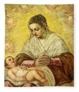 The Madonna Of The Stars Fleece Blanket