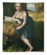 The Magdalene, C.1518-19 Oil On Canvas Fleece Blanket