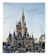 The Magic Kingdom Castle On A Beautiful Summer Day Fleece Blanket