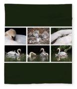 The Magic Of Spring Panorama Fleece Blanket