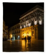 The Magical Duomo Square In Ortygia Syracuse Sicily Fleece Blanket