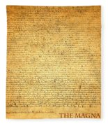 The Magna Carta 1215 Fleece Blanket