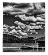 The Majestic Big Moose Lake Fleece Blanket