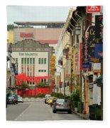 The Majestic Theater Chinatown Singapore Fleece Blanket