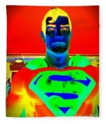 The Man Of Steel Fleece Blanket