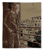 The Man Who Loved Paris Fleece Blanket