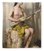 The Mandolin Player Fleece Blanket