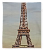 The Many Faces Of The Eiffel Tower In Paris France Fleece Blanket