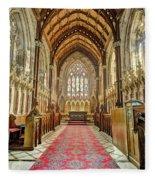 The Marble Church Interior Fleece Blanket