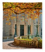 The Marble House In Autumn Fleece Blanket