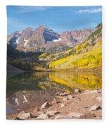 The Maroon Bells Near Aspen Colorado Fleece Blanket
