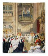 The Marriage At St Georges Chapel Fleece Blanket