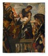 The Martyrdom Of Saint Mena Fleece Blanket