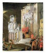 The Martyrdom Of St. Catherine, 17th Fleece Blanket