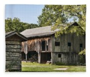 The Mathias Homestead Built In 1797 At Mathias West Virginia Fleece Blanket