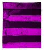 The Max Face In Purple Fleece Blanket