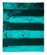 The Max Face In Turquois Fleece Blanket