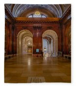 The Mcgraw Rotunda At The New York Public Library Fleece Blanket