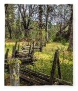 The Meadow Fence Fleece Blanket