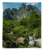 the Meadows Below Fleece Blanket