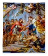 The Meeting Of Abraham And Melchizedek Fleece Blanket