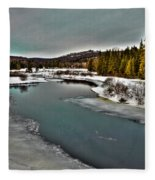 The Melting Of The Moose River In The Adirondacks Fleece Blanket