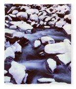 The Merced River In Winter, Yosemite Fleece Blanket