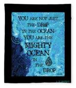 The Mighty Celtic Ocean Fleece Blanket