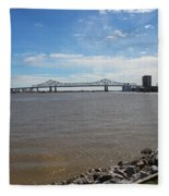 The Mighty Mississippi Fleece Blanket