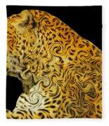 The Mighty Panthera Pardus Fleece Blanket