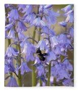 The Milky Bellflower Fleece Blanket