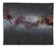 The Milky Way From Scorpio And Antares To Perseus Fleece Blanket