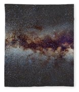 The Milky Way From Scorpio Antares And Sagitarius To North America Nebula In Cygnus Fleece Blanket