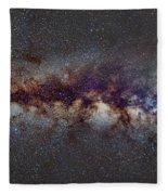 The Milky Way From Scorpio Antares And Sagitarius To Scutum And Cygnus Fleece Blanket