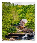The  Mill At Babcock Fleece Blanket
