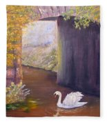 The Mill Swan Fleece Blanket