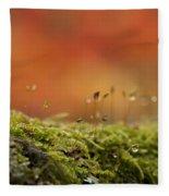 The Miniature World Of Moss  Fleece Blanket