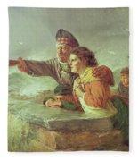 The Missing Boat, C.1876 Fleece Blanket