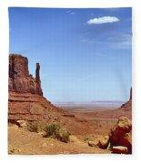 The Mittens Monument Valley Fleece Blanket