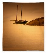 The Mont Saint-michel Bay At Sunset Fleece Blanket