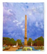 The Monument's Parking Lot Digital Art By Cathy Anderson Fleece Blanket