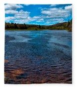 The Moose River At The Green Bridge Fleece Blanket