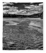 The Moose River At The Green Bridge II Fleece Blanket