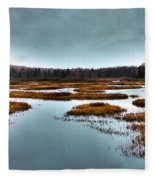 The Moose River - Old Forge New York Fleece Blanket
