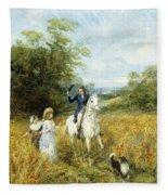 The Morning Ride Fleece Blanket