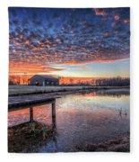 The Morning Sky Fleece Blanket