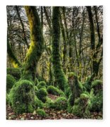 The Mossy Creatures Of The  Old Beech Forest 1 Fleece Blanket