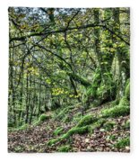 The Mossy Creatures Of The  Old Beech Forest 5 Fleece Blanket