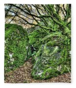 The Mossy Creatures Of The Old Beech Forest Fleece Blanket